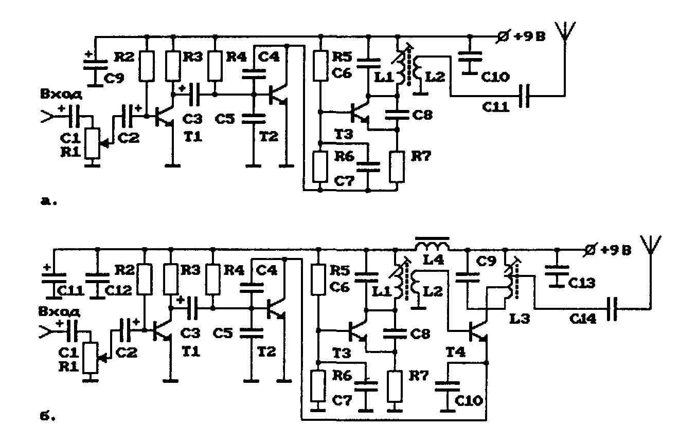 ам-радиостанция на 27 мгц схема